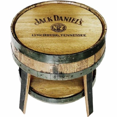 Barrel Round End Table